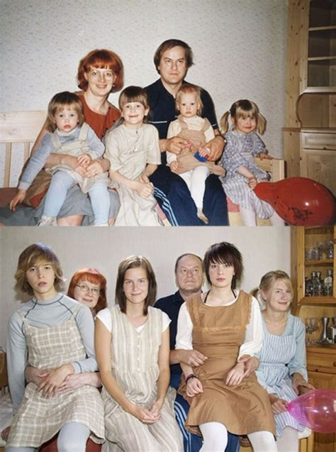 15+ People Who Recreated Their Family Photos From The Past