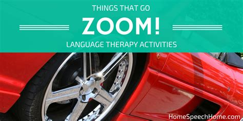 Things that Go Zoom! Therapy Activities for Receptive